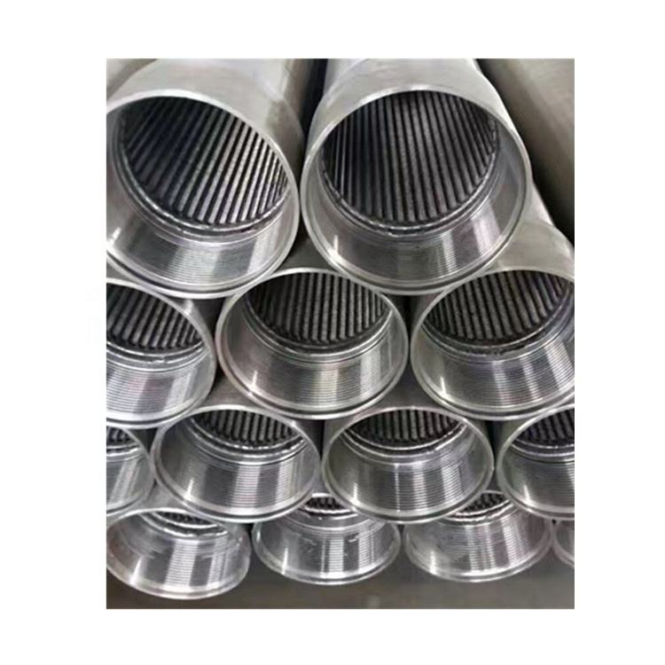 Stainless steel wedge v wire slot well drum screen