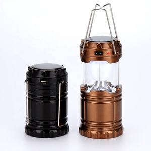 China wholesale portable multi function outdoors metal solar powered mini rechargeable led light camping lantern