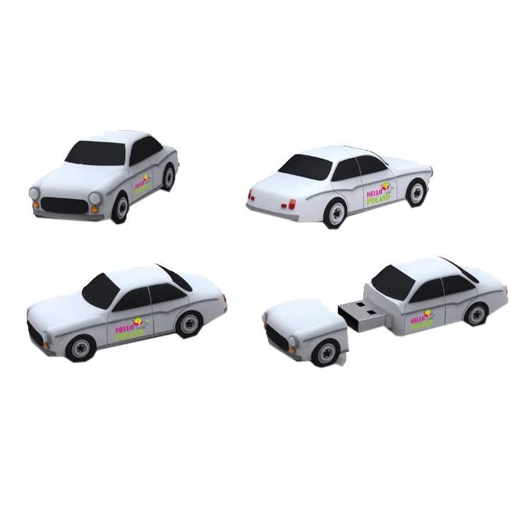 Hot sale 3D PVC custom truck car USB Flash drive promotional gift with box