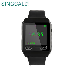 SINGCALL Mobile Receiver Pager Calling System Watch with OLED Screen