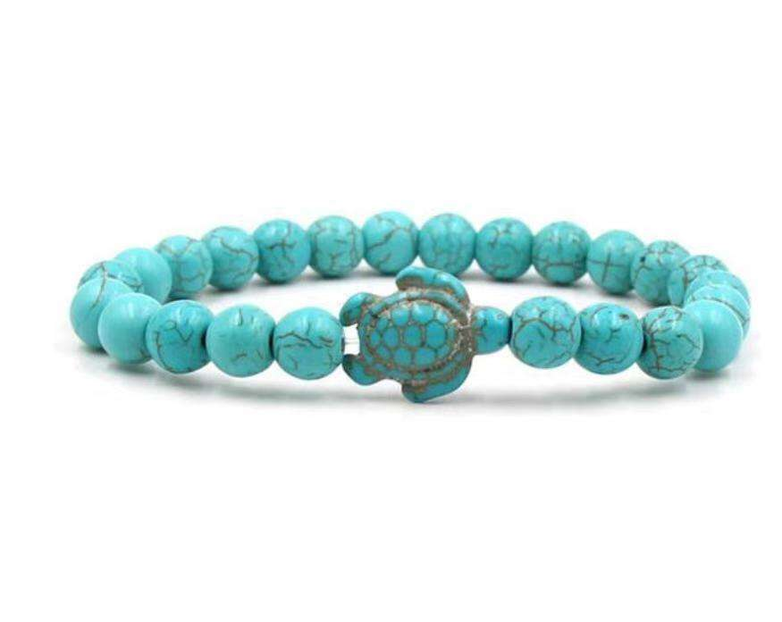 Hot Sale Natural Lava Turquoise Turtle Bracelet For Women Men Jewelry