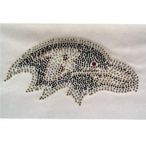 factory direct hot fix crystal rhinestone motif iron on transfer appliques for clothing