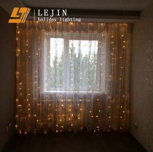 Twinkle Star led Curtain String Night Lights with 8 Flashing Modes Decoration for Christmas Wedding Holiday
