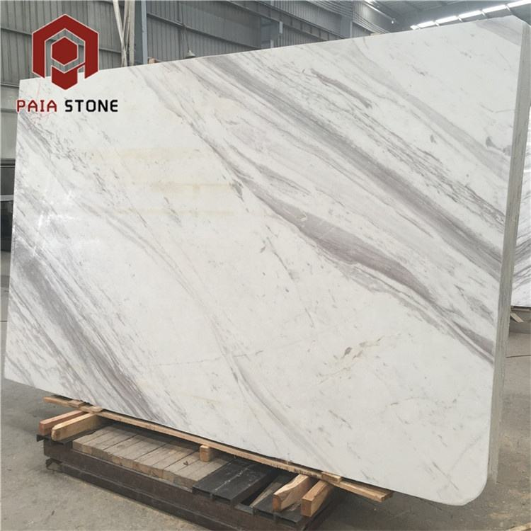 Book matched greece volakas white home marble floor design