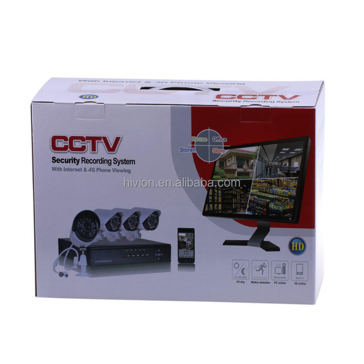 Nuovo modello AHD 4Ch 1080 p cctv DVR Kit Home Security h.264 4ch dvr combo kit cctv