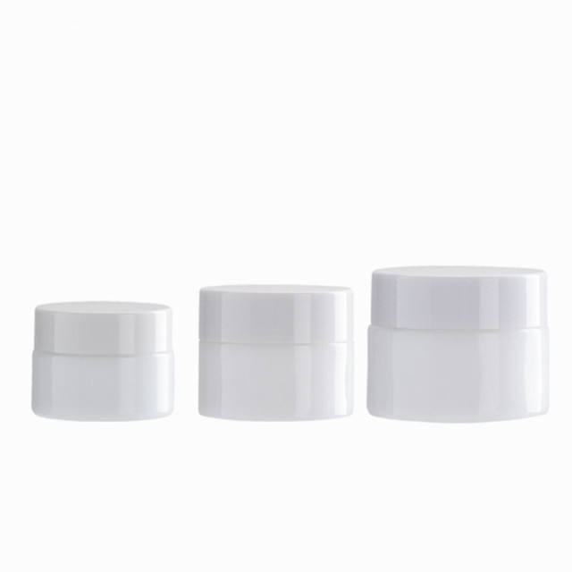 White porcelain glass cosmetic cream jar 15g 30g 50g 100g cosmetic packaging bottle jar