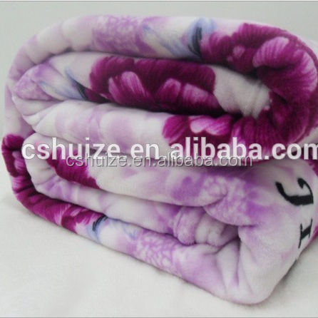 100% polyester printed soft warm thick flannel fleece korean arab dubai throw mink blankets from china
