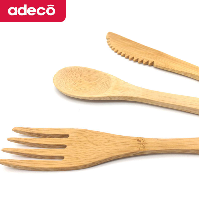 Factory Direct Reusable Bamboo Cutlery Travel Set,Organic Bamboo Cutlery