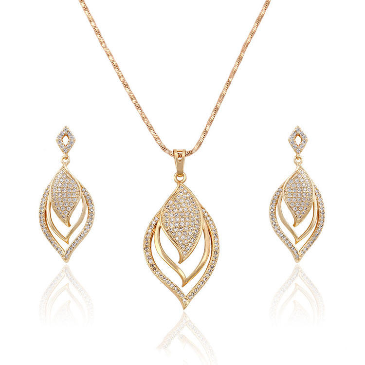 63558-Xuping Damen mode gold schmuck-set hot