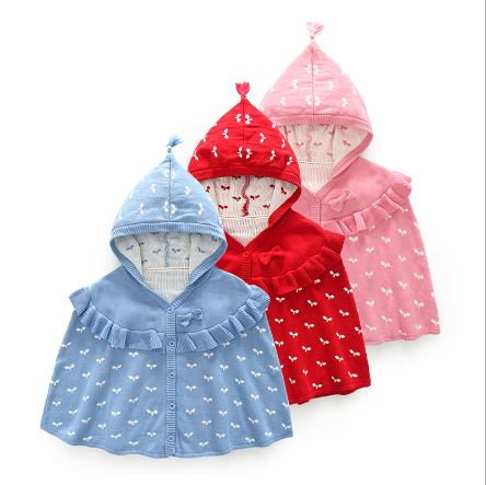 Wholesale Autumn 100% Cotton Hooded Baby Cloaks