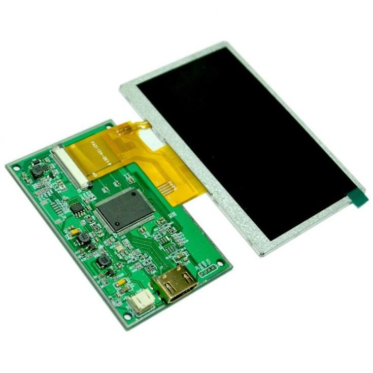 4.3 inch 480x272 LCD display met 40pin LCD connector naar HDMI board