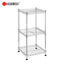chromed steel kitchen wire mesh shelf and 3 tier household storage wire shelf rack