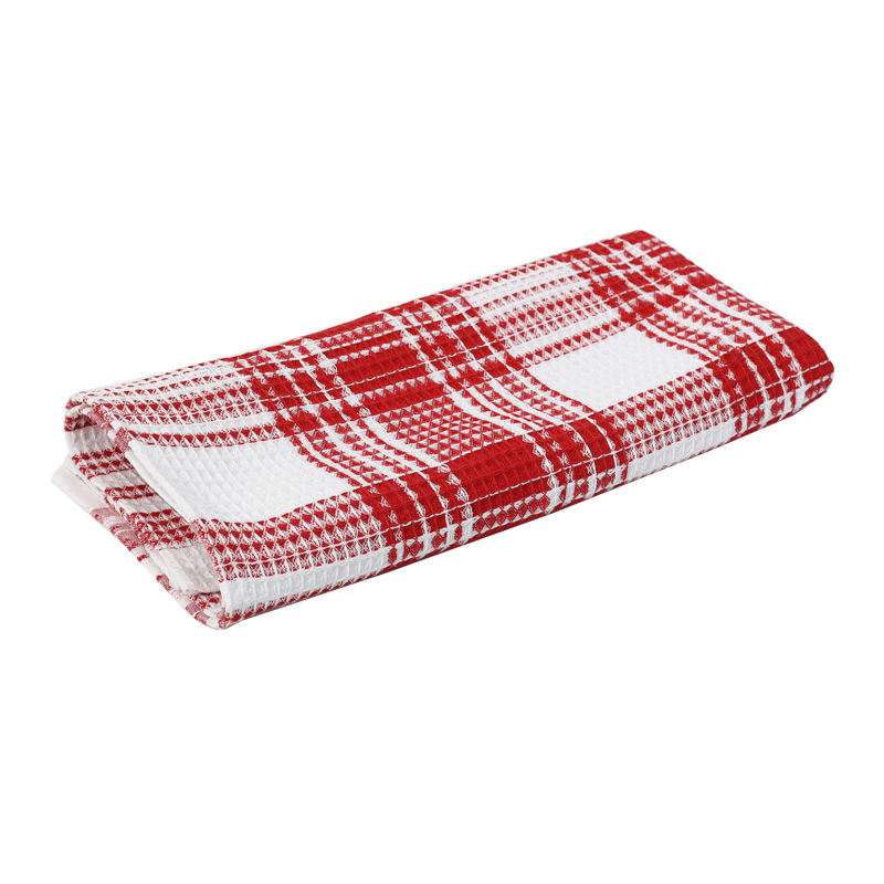 High quality german waffle kitchen towel with custom logo wholesale
