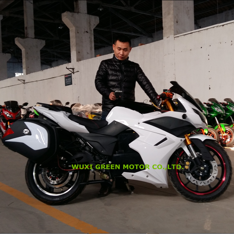 3000w/5000w heavy electric motorcycle with saddle bag