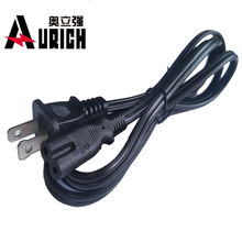 US Approval 2-Prong 18awg hp printer samsung tv ac power cord for tv