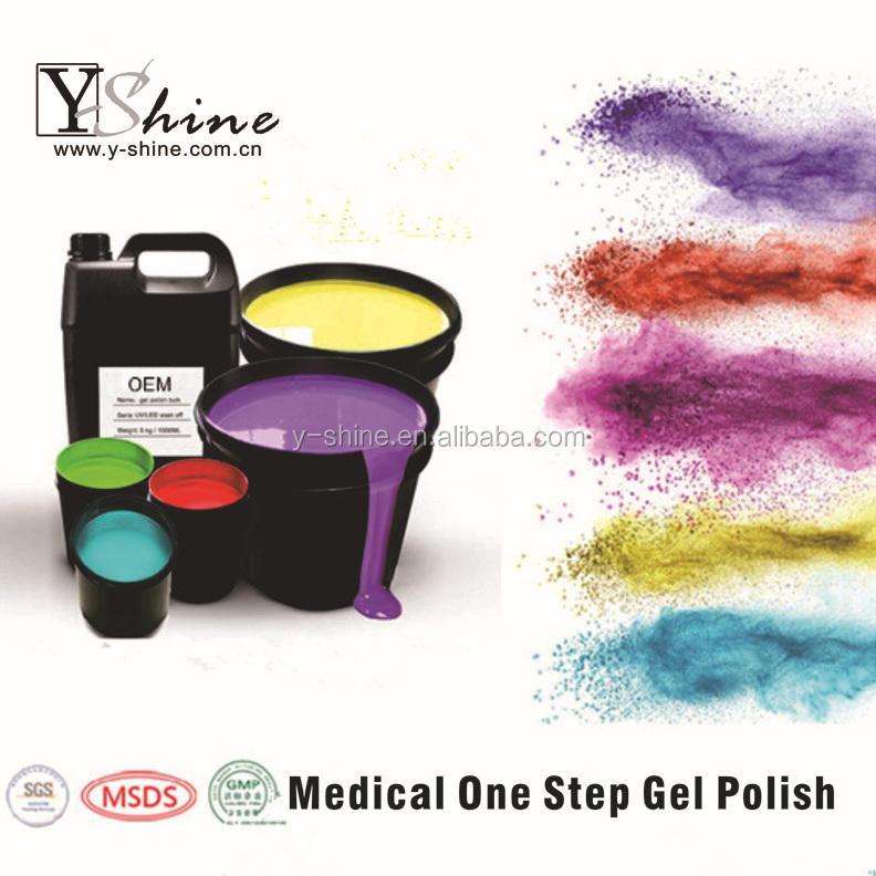 yshine nổi tiếng thương hiệu thời trang tốt nhất một bước gel móng tay móng gel polish ngâm móng gel dẫn