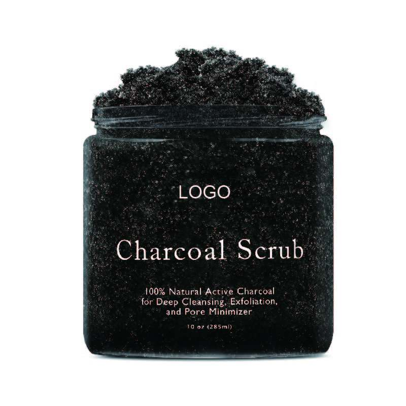 Private Label Deep Cleansing And Exfoliation Activated Charcoal Face And Body Scrub