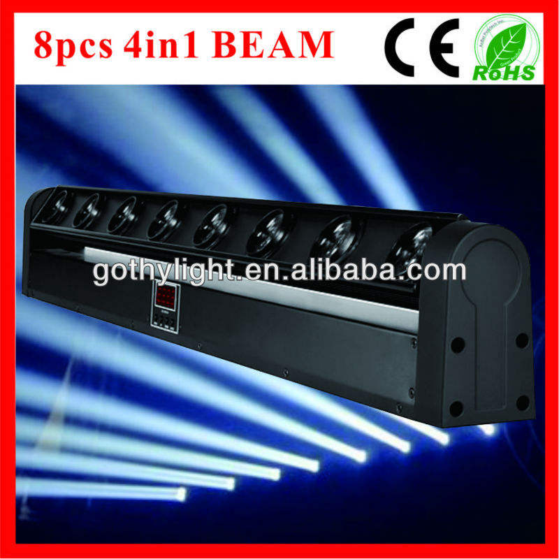 Ce& rohs/8 pcs 10w 4in1 led feixe/pixel bar fase