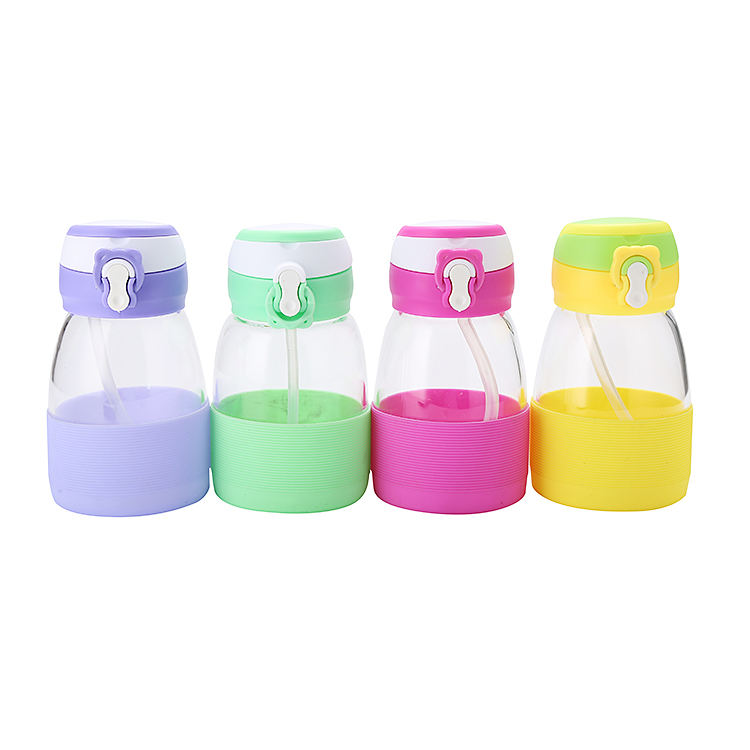 Wholesale Kids Transparent Sippy Cup 350ML Glass Water Bottle