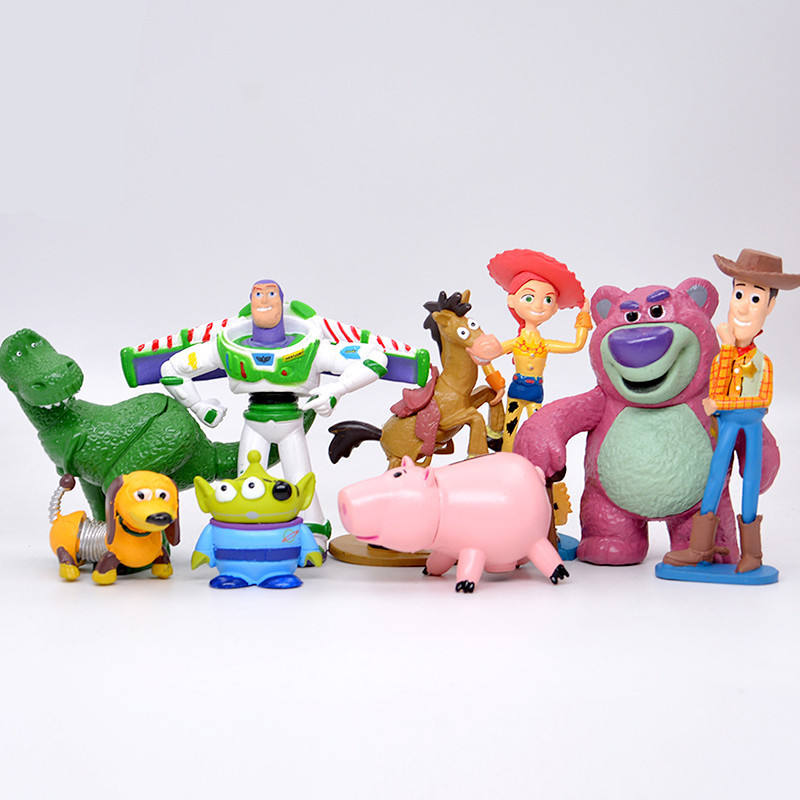 Hot Collection story toy action figure, Woody Buzz PVC action figure doll, Jessie Rex story toy for gift