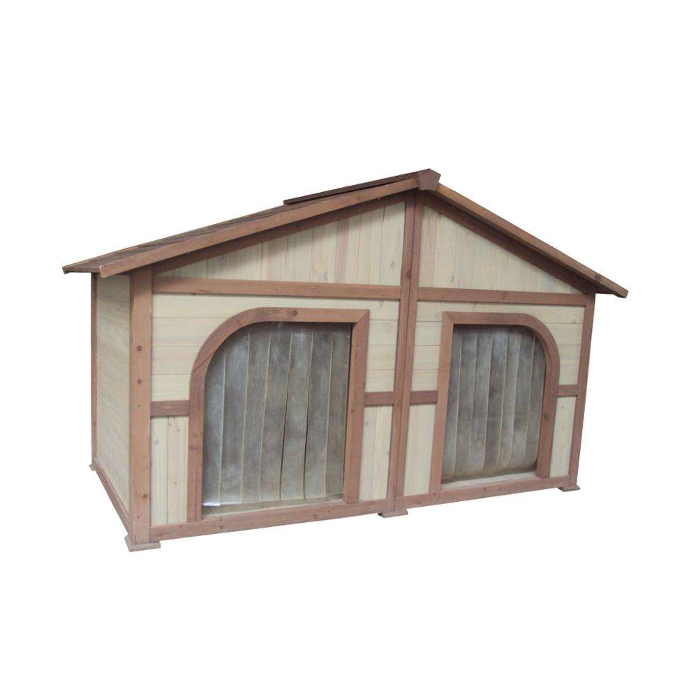 Wooden Outdoor Large Double Dog Kennels