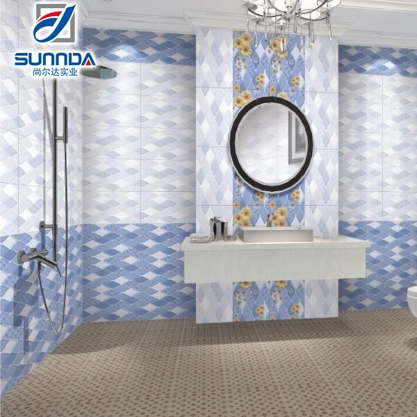 2016 decorativo China 250x400mm espejo del baño cerámica azulejos de pared