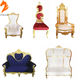 China manufacturer luxury cheap king throne chair for wedding party