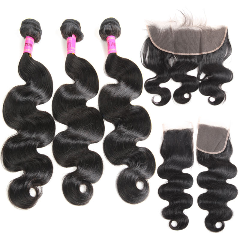 Factory Wholesale 9A 10A Grade Cuticle Aligned Peruvian Hair, Unprocessed Virgin Body Wave Peruvian Hair Bundles with Closure