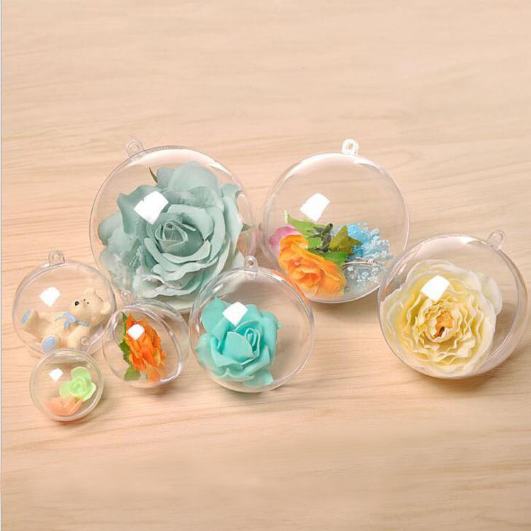 Clear Plastic Ornament Ball Christmas Baubles for christmas decoration