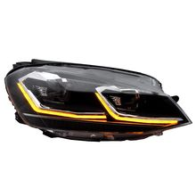 BiLED projector lens Golf 7 headlight with dynamic turn indicator