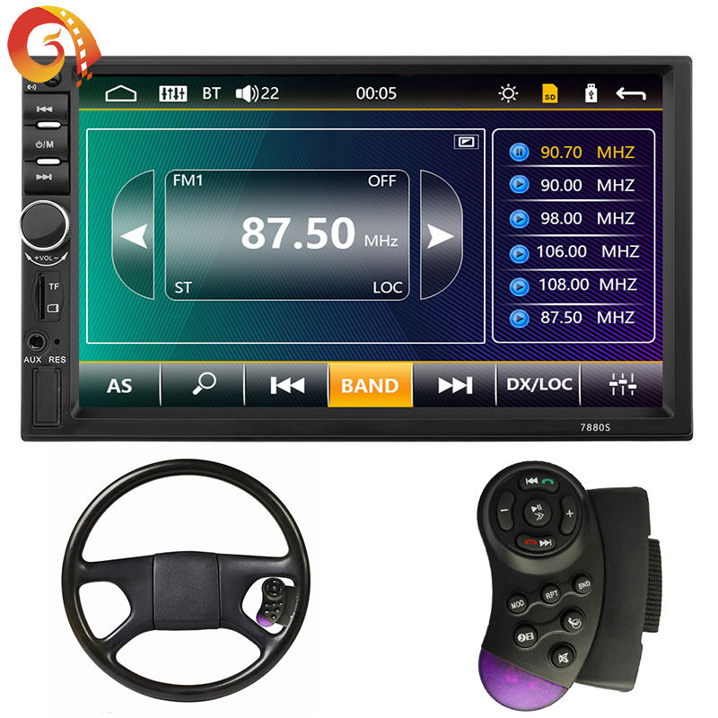 7 Touchscreen Auto Stereo Bluetooth Navigation Funktion Spiegel Link Radio FM USB Sd-karte Video-<span class=keywords><strong>Player</strong></span>