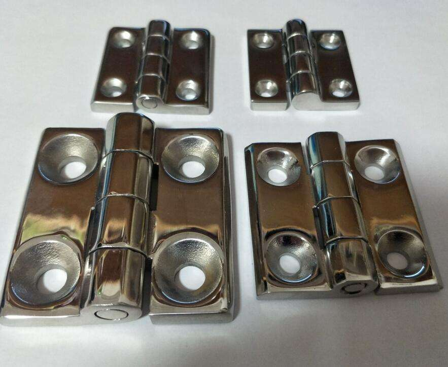 TOP quality polished Heavy duty stainless steel hinges by investment casting