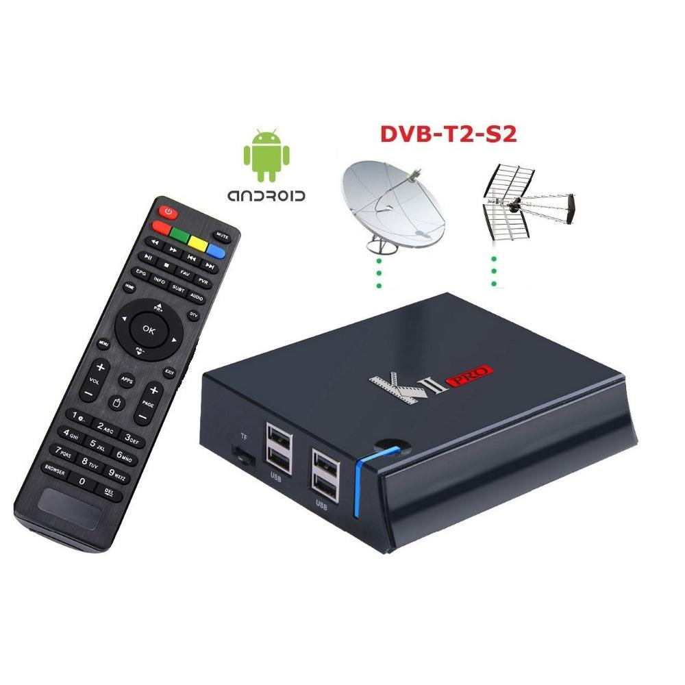 KII Pro Amlogic S905 Quad-core dvb-s2 dvb-t2 twin tuner free to air internet receiver 2G/16G 4K UHD dual band wifi streaming box