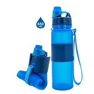 New 500ml/16oz Collapsible Sports Drinking Silicone Water Bottle Foldable