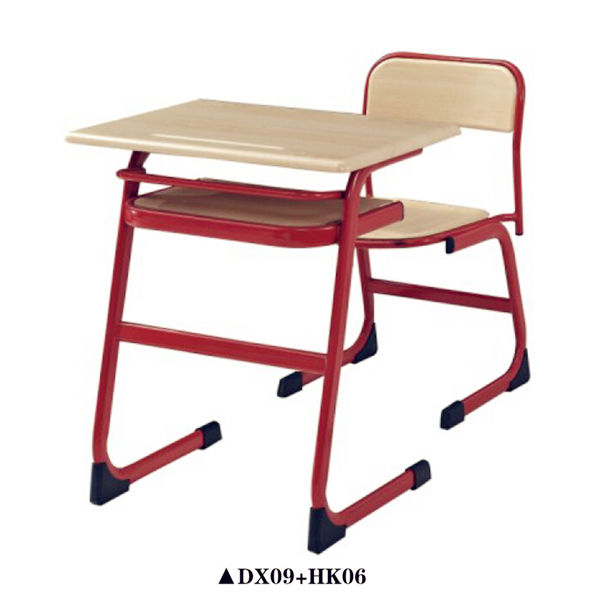 Wooden study table Classroom chairs School desk and chair on sale DX09+HK06