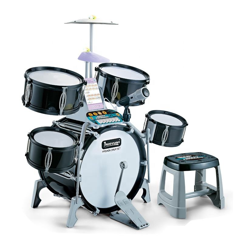 Performer Multifunctional Instrument Kids Jazz Drum Set With Light Music