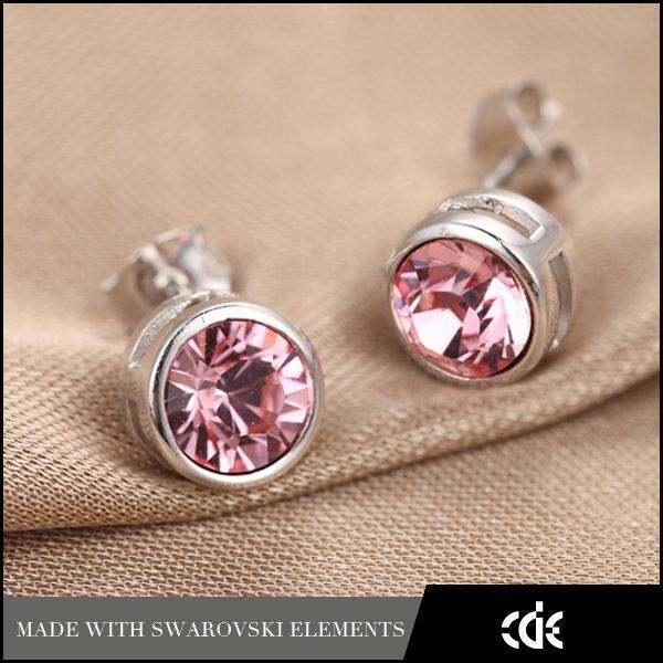 Cde bijoux en cristal de zircon stud boucle d'oreille de mode bijoux en <span class=keywords><strong>gros</strong></span>, boucle d'oreille de mode