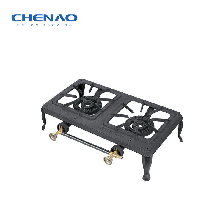 Hot selling 2 cast iron burner portable kitchen gas appliances
