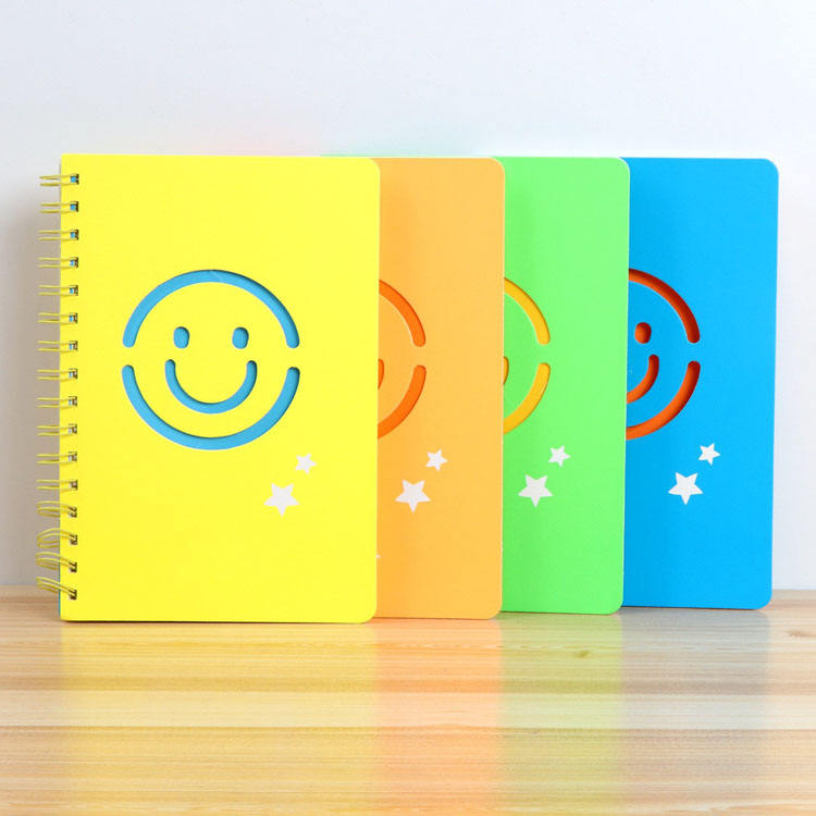 Hoge Kwaliteit Plastic Front Cover Student Smiley School Note Book