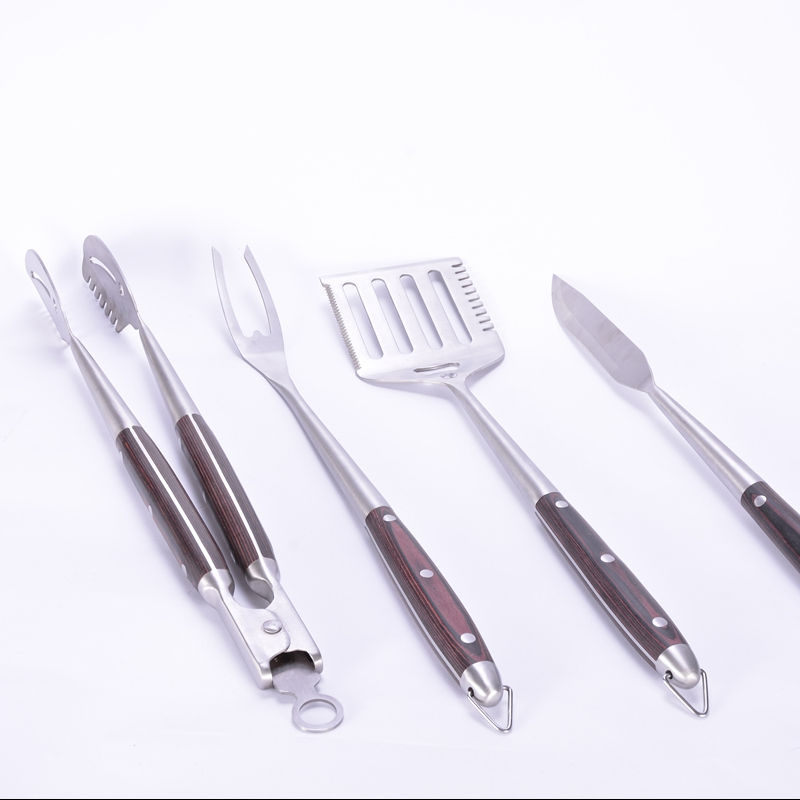 Hot sale 4 pcs stainless steel handle BBQ tools set