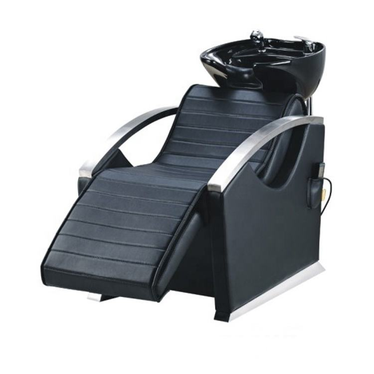 Shampoo chair hair salon furniture reclining shampoo chair with footrest