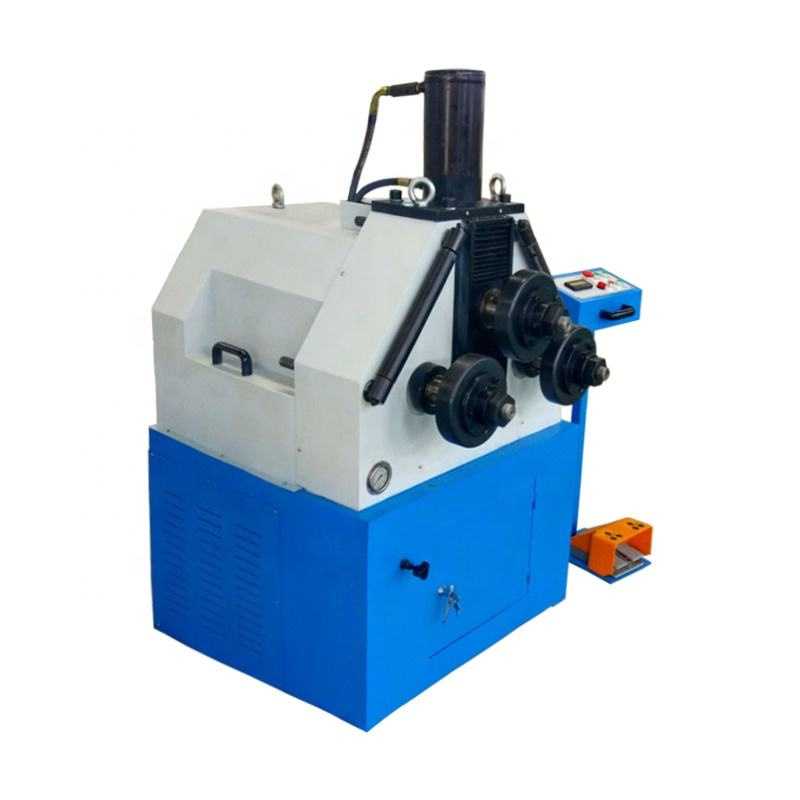 Hydraulic metal strip tube pipe profile bending machine 3 roller 360 degree rolling aluminum profile roll bending machine