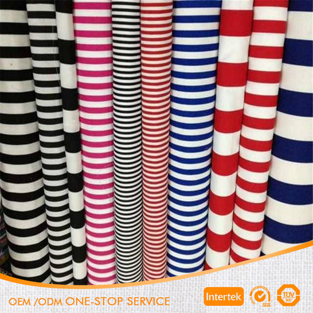 100% Cotton printed striped canvas fabric for bag shoes sofa curtain