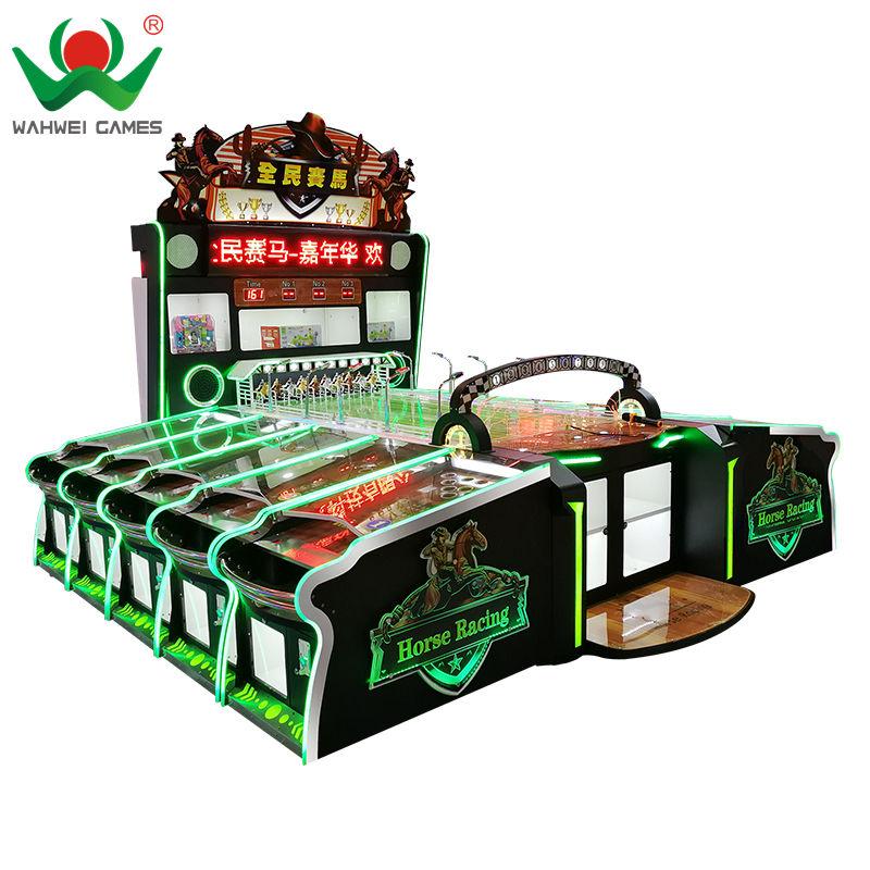 10 اللاعبين لعبة الكرنفال آلة الساخن عملة تعمل الحصان سباق لعبة آلة