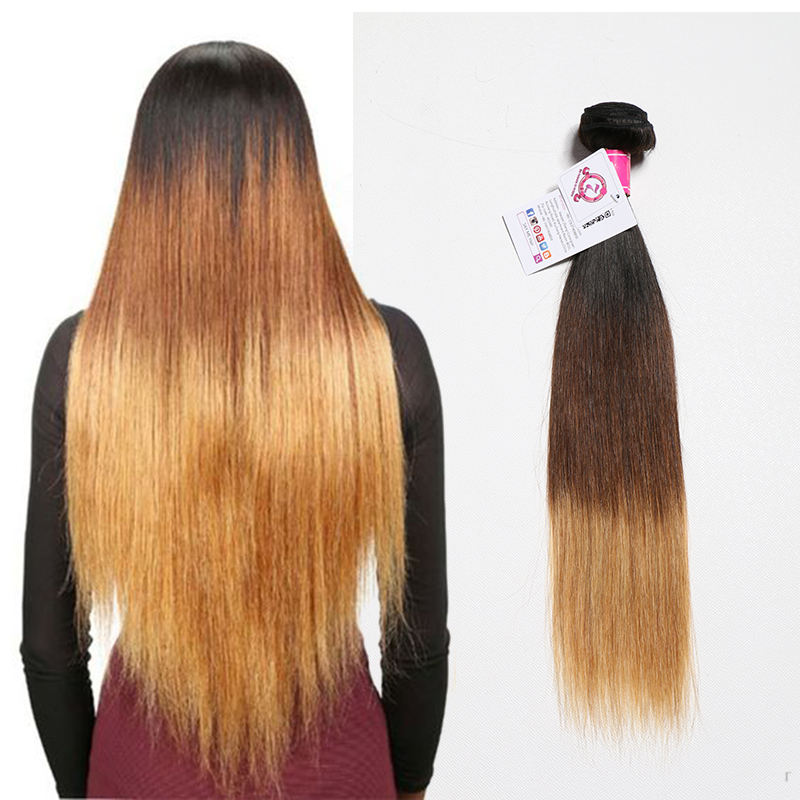 Factory direct sale darling 1b/4/27 suna remy straight hair, brazilian hair in mozambique 100 human, raw vietnamese hair weaving