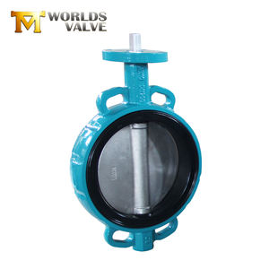 Wholesale stainless steel bare shaft wafer type butterfly valve