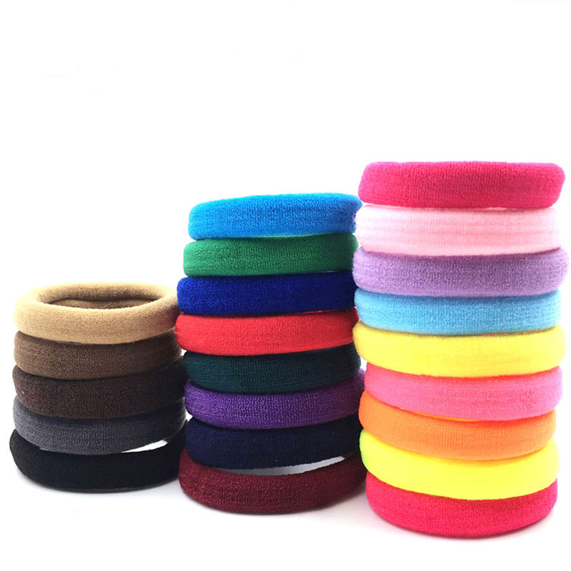 Colorful nylon knitted hair ties elastic hair bands wholesale