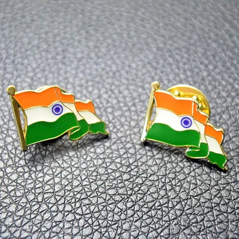 India bandiera nazionale/nastro/mappa lapel pin badge