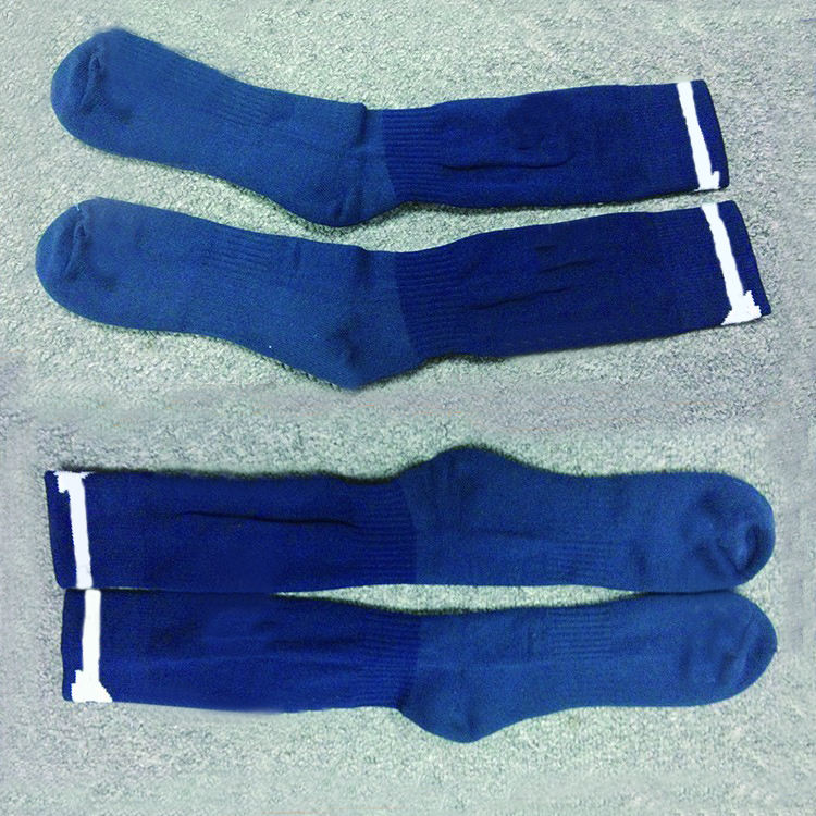 Factory Directly Sale Custom Branded Knitted Cotton Socks Fashion Men Soccer Socks