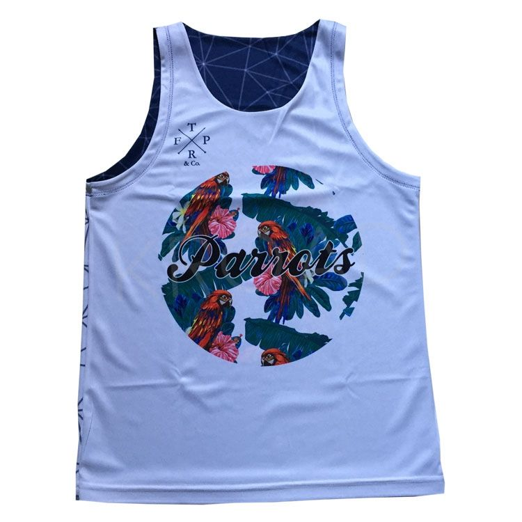 High quality sublimation printed double layer singlets basketball jersey reversible